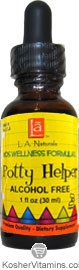 L.A. Naturals Kosher Potty Helper Kids Alcohol Free Wellness Formula 1 OZ