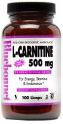 Bluebonnet Kosher L-Carnitine 500 mg  100 Licaps