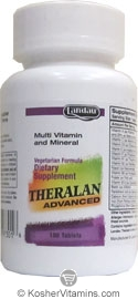 Landau Kosher Theralan Advanced Multi Vitamin & Mineral (Compare to Theragran M) 100 Tablets