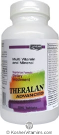 Landau Kosher Theralan Advanced Multi Vitamin & Mineral (Compare to Theragran M) 250 Tablets