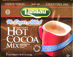 Landau Kosher Instant Hot Cocoa Mix No Sugar Added Dairy- Cholov Yisroel 8 Envelopes