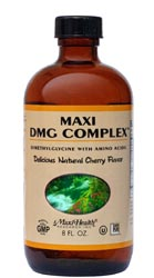 Maxi Health Kosher Liquid DMG Complex Cherry Flavor 8 OZ