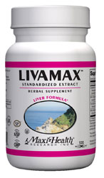 Maxi Health Kosher Livamax Liver Formula 60 Vegetable Capsules