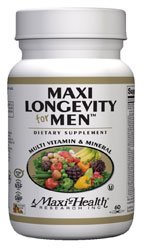 Maxi Health Kosher Maxi Longevity Multi Vitamin & Mineral for Men Over 50 60 Chlorphyll Capsules