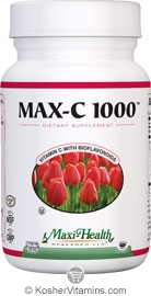 Maxi Health Kosher Max-C 1000 Mg (Vitamin C with Bioflavonoids) 100 Tablets