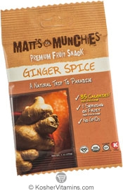 Matt's Munchies Kosher Premium Fruit Snack Ginger Spice 1 Packet