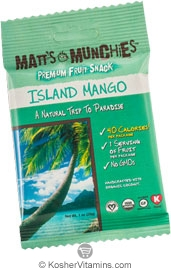 Matt's Munchies Kosher Premium Fruit Snack Island Mango 12 Packets