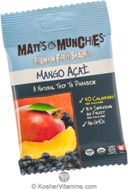 Matt's Munchies Kosher Premium Fruit Snack Mango Acai 1 Packet