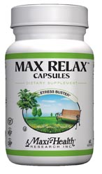 Maxi Health Kosher Max Relax Stress Buster 60 MaxiCaps