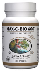 Maxi Health Kosher Vitamin C Max-C-Bio 600 Mg. 180 TAB