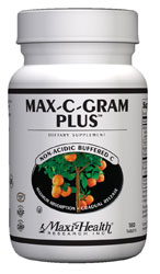 Maxi Health Kosher Max-C-Gram Plus (Buffered Vitamin C) 180 TAB