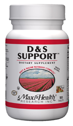 Maxi Health Kosher D&S (Diet & Sugar) Support  BUY 1 GET 1 FREE  180 TAB