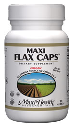 Maxi Health Kosher Maxi Organic Flaxseed Oil Caps 700 Mg 180 Maxicaps