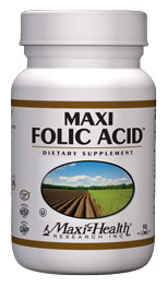 Maxi Health Kosher Maxi Folic Acid 800 mcg 90 Maxicaps