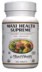 Maxi Health Kosher Maxi Health Supreme Multi Vitamin/ Mineral  180 TAB