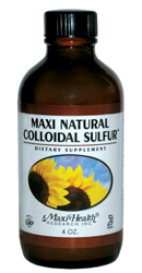 Maxi Health Kosher Maxi Natural Colloidal Sulfur 4 OZ