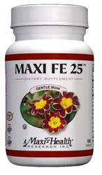 Maxi Health Kosher Maxi FE 25 (Iron 25 Mg) 100 Tablets