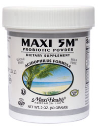 Maxi Health Kosher Maxi 5M Probiotic Powder  2 OZ.