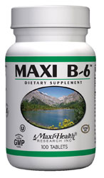 Maxi Health Kosher Vitamin B6 100 Mg 100 Tablets