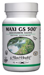 Maxi Health Kosher Maxi GS (Glucosamine Sulfate) 500 Mg 180 Vegicaps