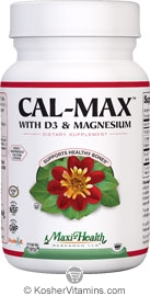 Maxi Health Kosher Cal-Max Calcium with D3 & Magnesium 90 Tablets