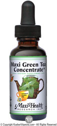 Maxi Health Kosher Maxi Green Tea Concentrate Liquid Peach Flavor 2 OZ