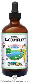 Maxi Health Kosher KiddieMax B-Complex Liquid Raspberry Flavor 2 OZ