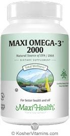 Maxi health kosher maxi omega 3 2000 fish oil epa dha buy for Kosher fish oil