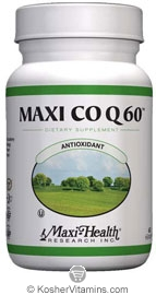 Maxi Health Kosher Maxi Co Q 60 Mg (Coenzyme Q10) 60 MaxiCaps