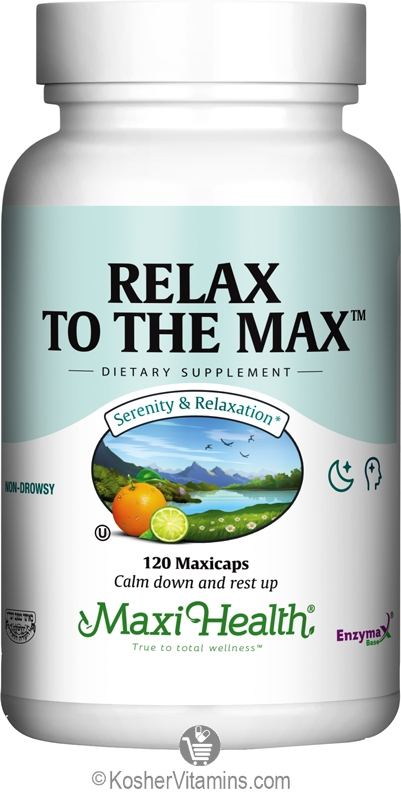 Maxi Health Kosher Relax To The Max 120 Vegetable Capsules