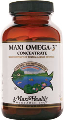 Maxi Health Kosher Maxi Omega-3 Concentrate Fish Oil EPA/DHA 180 MaxiGels