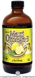 Maxi Health Kosher Maxi Omega-3 Liquid Fish Oil Lemon Burst 12 OZ