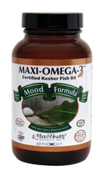 Maxi Health Kosher Maxi Omega-3 Fish Oil Mood Formula EPA/DHA  90 MaxiCaps