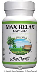 Maxi Health Kosher Max Relax Stress Buster 120 MaxiCaps
