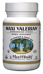 Maxi Health Kosher Maxi Valerian 90 Vegetable Capsules