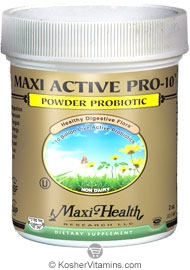 Maxi Health Kosher Active Pro-10 Probiotic Powder 2 OZ