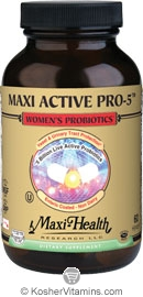 Maxi Health Kosher Active Pro-5 Women's Probiotics 60 MaxiCaps