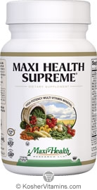 Maxi Health Kosher Maxi Health Supreme Multi Vitamin/Mineral 120 TAB