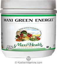 Maxi Health Kosher Maxi Green Energee (Energy Formula) Super Whole Food Blend Powder Berry Flavor 7.8 OZ