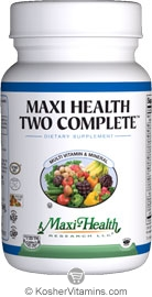 Maxi Health Kosher Maxi Two Complete Multi Vitamin & Mineral 60 MaxiCaps