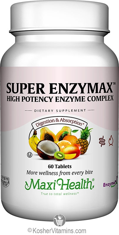 Maxi Health Kosher Super Enzymax 60 Tablets