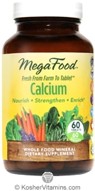 MegaFood Kosher Calcium 60 Tablets