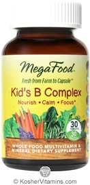 MegaFood Kosher Kid's B Complex 30 Tablets