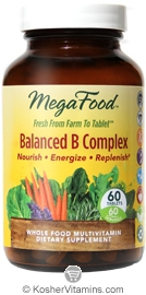 MegaFood Kosher Balanced B Complex  60 Tablets