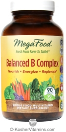 MegaFood Kosher Balanced B Complex  90 Tablets