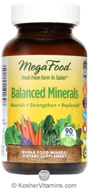 MegaFood Kosher Balanced Minerals  90 Tablets