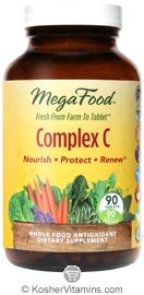 MegaFood Kosher Complex C Whole Food Vitamin C Antioxidant 90 Tablets