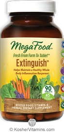MegaFood Extinguish (Helps Maintain a Healthy Whole Body Inflammation Response) Vegetarian Suitable Not Certified Kosher  90 Tablets