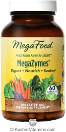 MegaFood Megazymes Digestive Aid Vegetarian Suitable Not Certified Kosher 60 Capsules