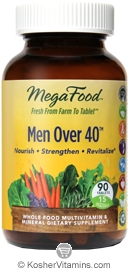 MegaFood Kosher Men Over 40 Whole Food Multivitamin & Mineral 90 Tablets